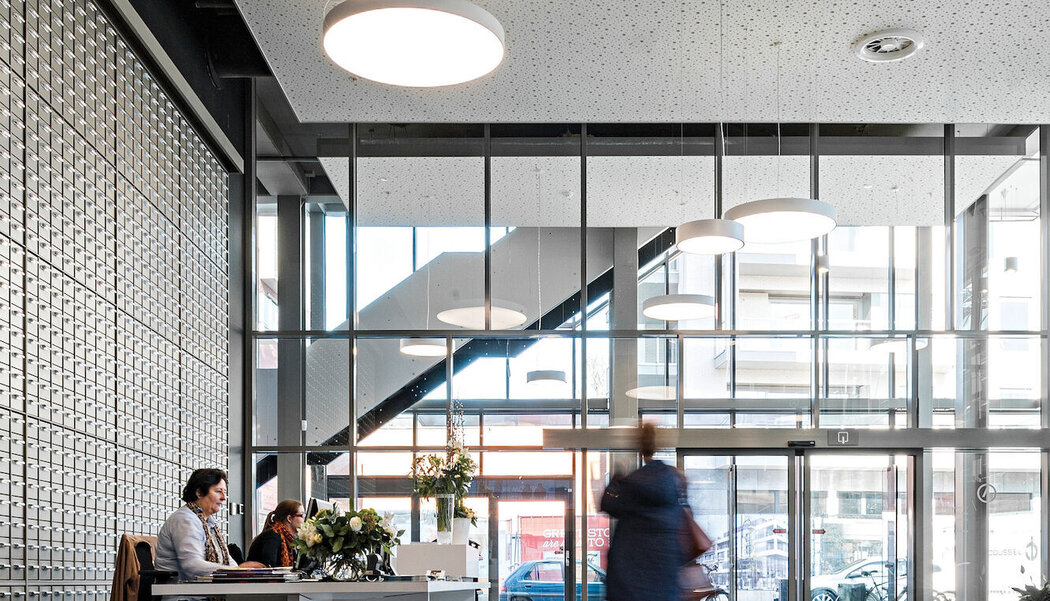 CP 155 (-LS) Sliding Systems and CW 50 Curtain Walls - Office building Knowledge Centre ARhus located in Rochefort, Belgium
