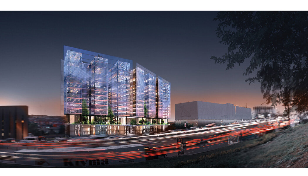 CW 86 Curtain Walls - Office building The Istanbul Merter located in Istanbul, Turkey