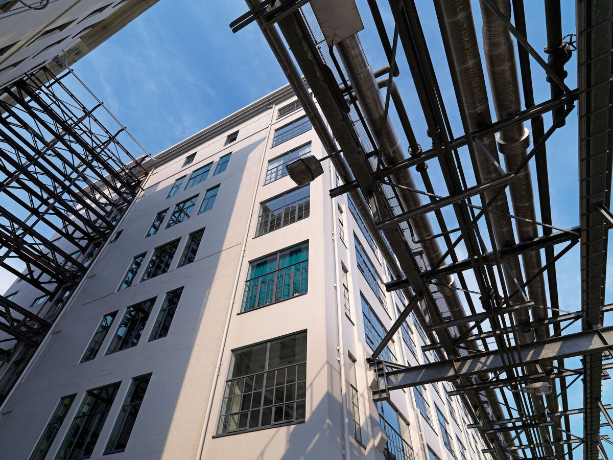SlimLine 38 Windows and CF 77 Sliding Systems - Residental/Project Anton Building at Strijp S located in Eindhoven, the Netherlands