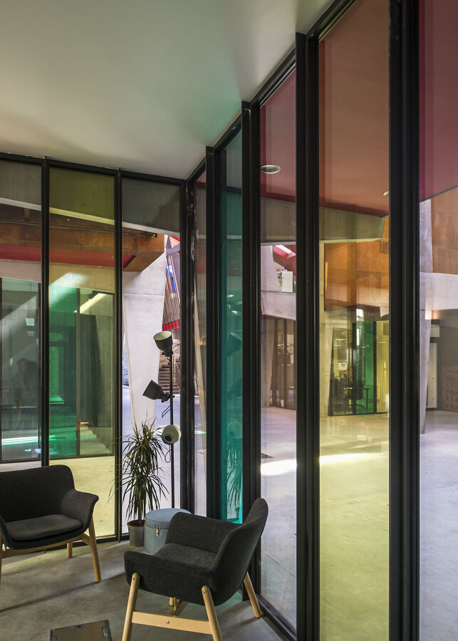 CW 50 Curtain Walls and SlimLine 38 Windows - Office building Halle de la Madeleine located in Nantes, France