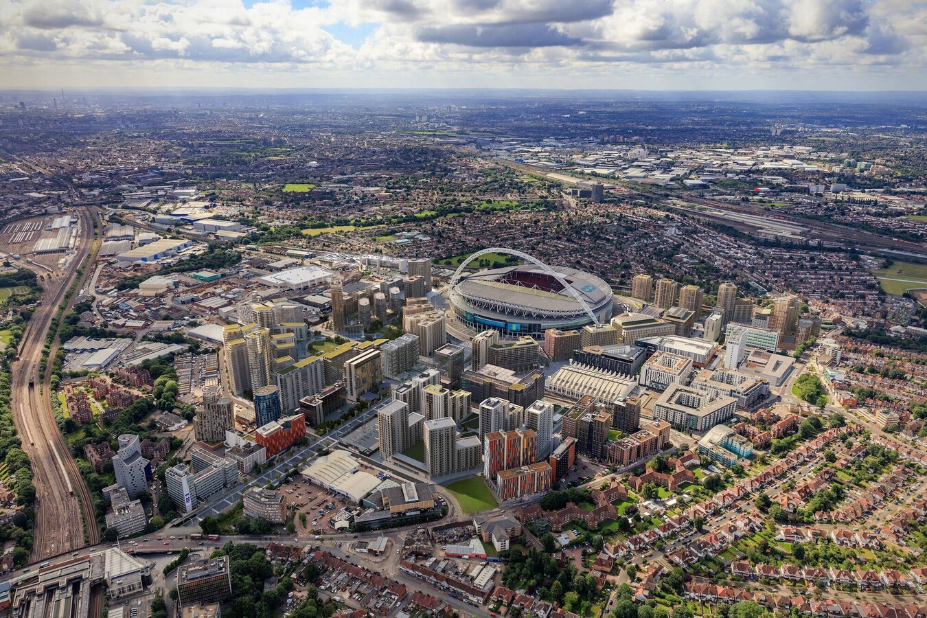 CS 77 Windows, CS 77 Doors, CP 155 (-LS) Sliding Systems and CW 50 Curtain Walls - Wembley Park located in London, United Kingdom